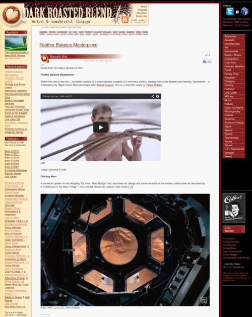 Presse-2013-04-09 Dark Roasted Blend - Orbiting Mars