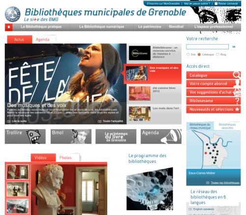 Presse-2013-06-21 Bibliotheques Grenoble - expo Mars biblio centre-ville