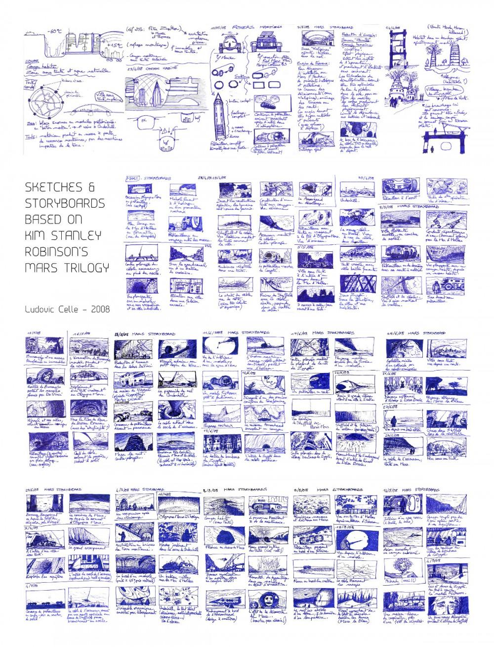 Storyboards Mars Trilogy