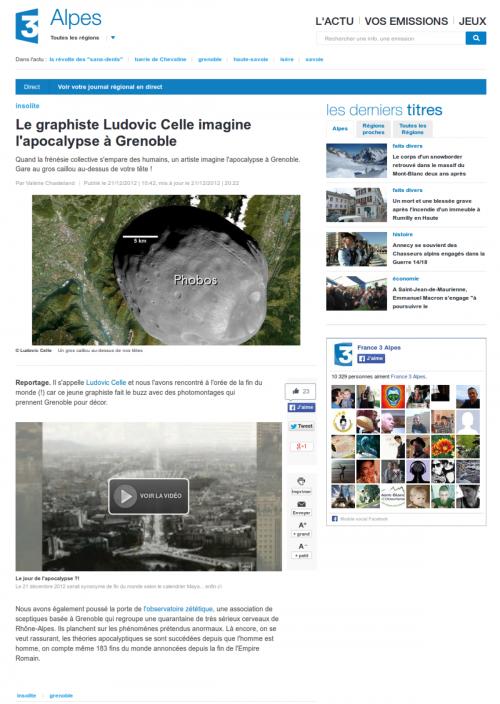 Presse-2012-12-21 France3 Alpes Grenoble Apocalypse