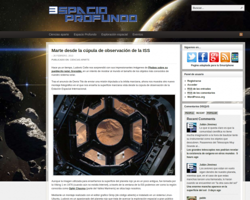 Presse-2013-02-26 Espacio Profundo - Orbiting Mars